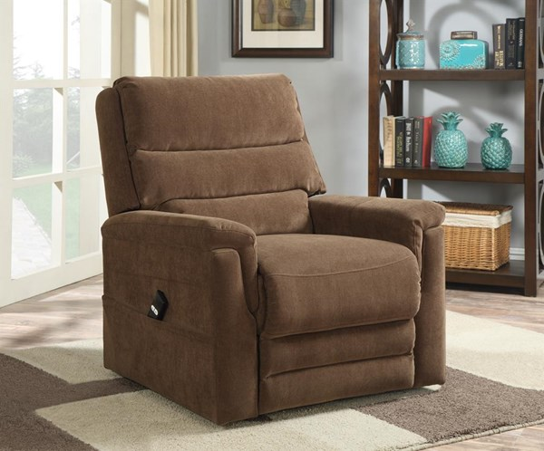 Transitional Coffee Wood Foam Metal Plastic Polyester Lift Chair RH-DS-2065-016-051