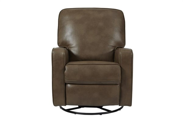 Roman Chestnut Modern Sutton Faux Leather Swivel Glider