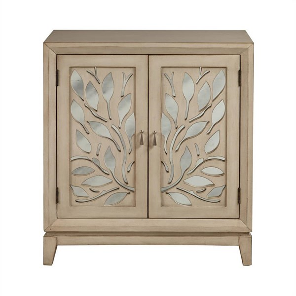 Traditional Brown Wood Glass Door Cabinet W/mirrored RH-DS-2164850-WC