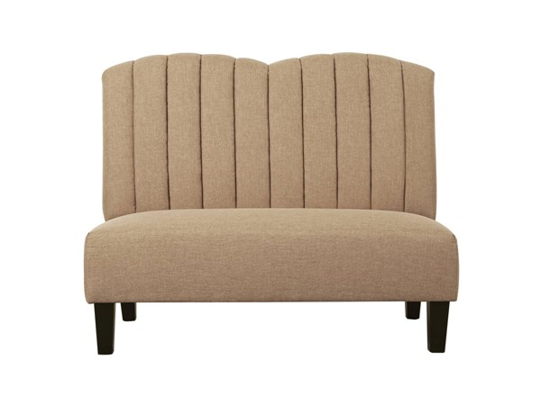 Modern Brown Hayden Honey Fabric Hardwood Upholstered Banquette Bench RH-DS-2186-400