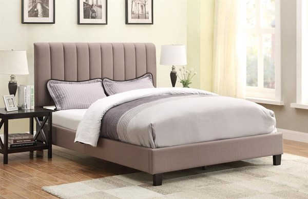 Sterling Taupe Fabric Hardwood Upholstered Queen Bed RH-DS-2221-290