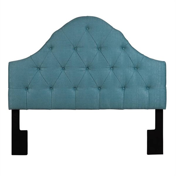 Blue Fabric Tuxedo Seafoam Upholstered King Headboard RH-2299-270-TS