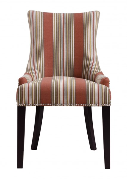 Classic Bourbon Fabric Hardwood Imperial Stripe Dining Chair RH-DS-2306-900-390