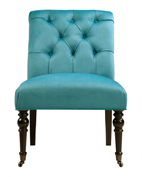 Traditional Blue Fabric Caribou Surf Hardwood Dining Chair RH-DS-2509-900-404