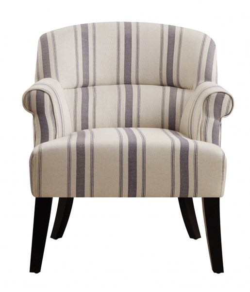 Traditional Cambridge Seaside Fabric Hardwood Upholstered Accent Chair RH-DS-2524-900-384