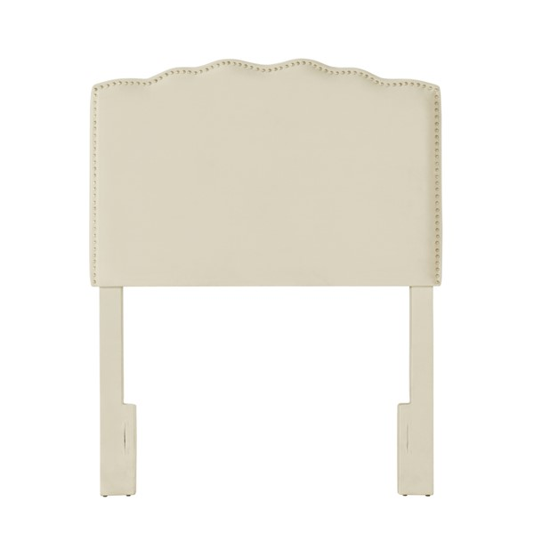 Home Meridian Cream Fabric Twin Headboard RH-DS-2532-230-1