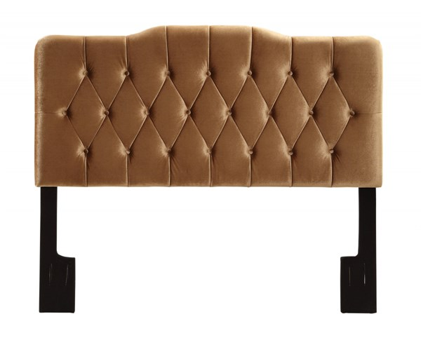 Elegant Gold Velvet Bronze Hardwood Upholstered Queen Headboard RH-DS-2534-250-208