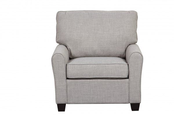 Dennison Contemporary Grey Wood Fabric Track Arm Chair RH-DS-2637-682-409