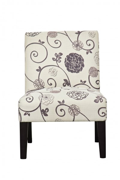 Transitional Swirl Floral Fabric Hardwood Dining Chair RH-DS-2661-270-410