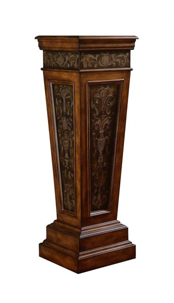 Classic Brown White Wood Accents Pedestals RH-DS-585203-PDS-VAR