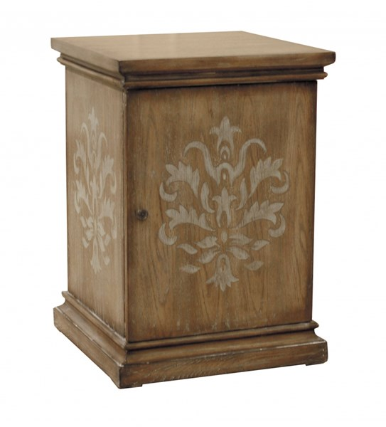 Elegant Brown Wood Square Chairside Table RH-DS-730002