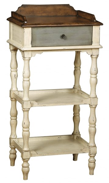 White Wood Ractangle Accent Table W/Hand Painted RH-DS-766077