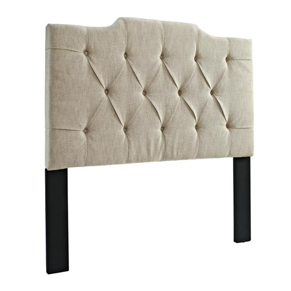 Beige Linen Hardwood Tufted Upholstered Full/Queen Panel Headboard RH-DS-8626-250