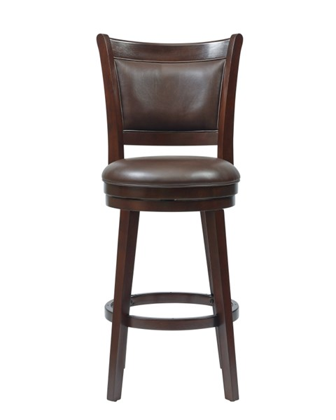 Contemporary  Brown Wood Bonded Leather 30 Inch Swivel Barstool RH-DS-871-501-T