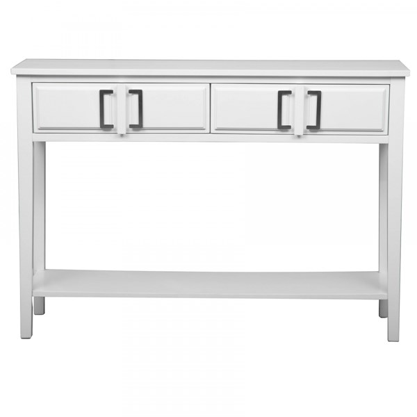 Transitional White Hardwood Solids Console Table RH-DS-A092010