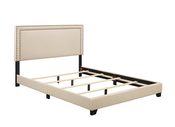 Home Meridian Cream Fabric Queen Platform Bed RH-DS-A123-290-104