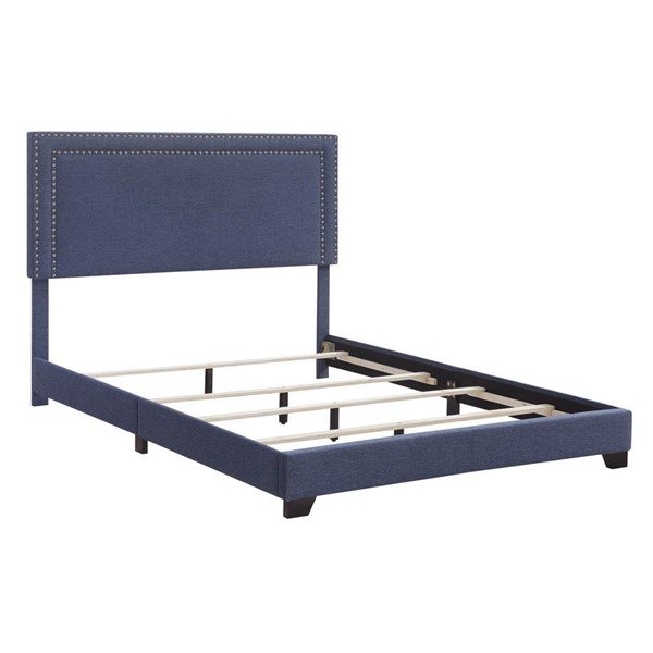 Home Meridian Blue Fabric King Platform Bed RH-DS-A123-291-2