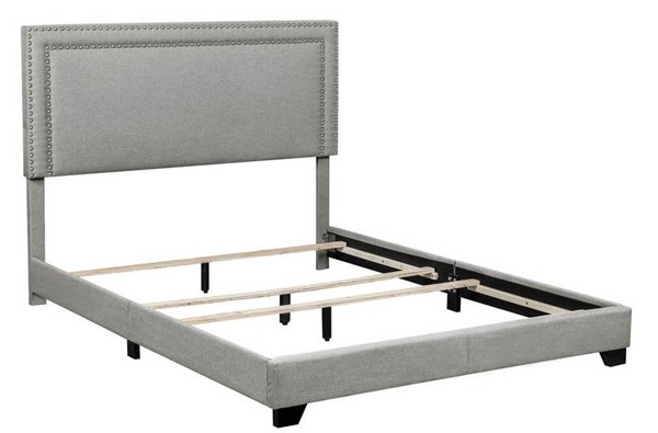Home Meridian Grey Fabric King Platform Bed RH-DS-A123-291-113