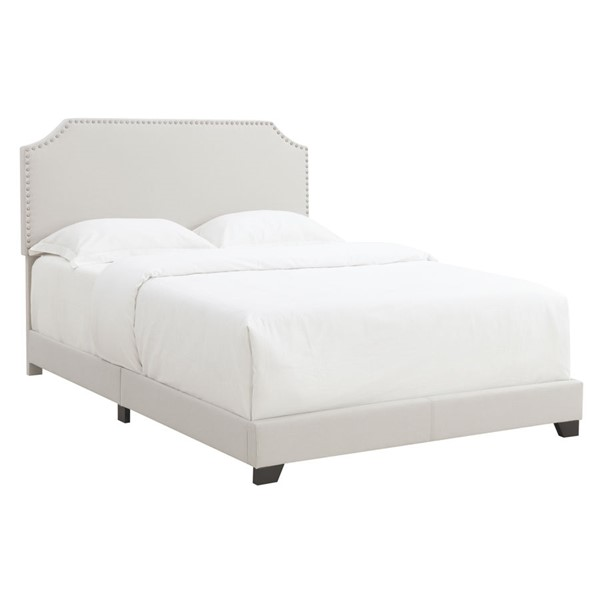 Home Meridian Fog Fabric Clipped Corner Full Platform Bed RH-DS-A124-289-461