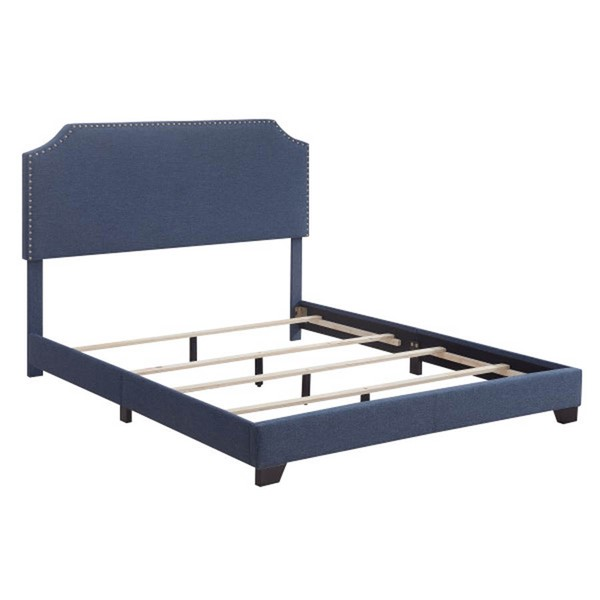 Home Meridian Denim Fabric Clipped Corner Queen Platform Bed RH-DS-A124-290-1