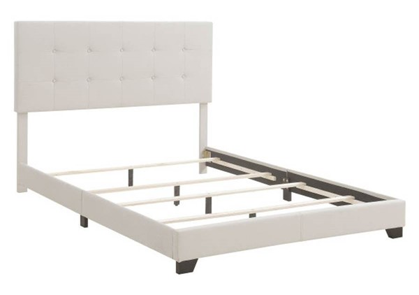Home Meridian Fog Fabric Tufted King Platform Beds RH-DS-A125-291-461
