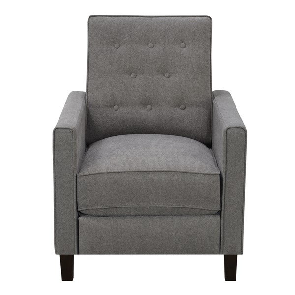 Home Meridian Ash Grey Tufted Upholstered Pushback Recliner RH-DS-A729-008-1030