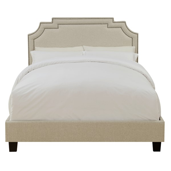 Home Meridian Cream Upholstered Twin Bed RH-DS-D004-289-485