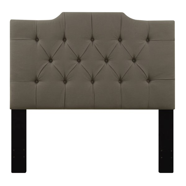 Traditional Brown Fabric Hardwood Full / Queen Upholstered Headboard RH-DS-D014-250-373
