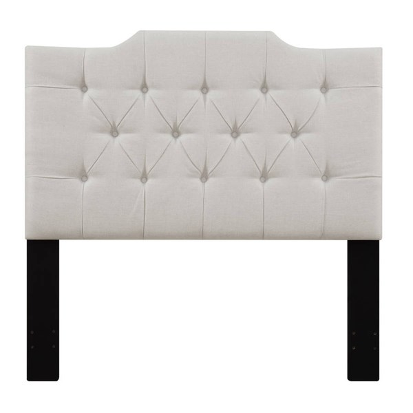 Traditional White Fabric Hardwood Full / Queen Upholstered Headboard RH-DS-D014-250-432