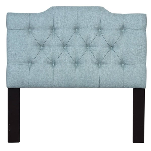 Traditional Blue Fabric Hardwoods Upholstered Full / Queen Headboard RH-DS-D014-250-481