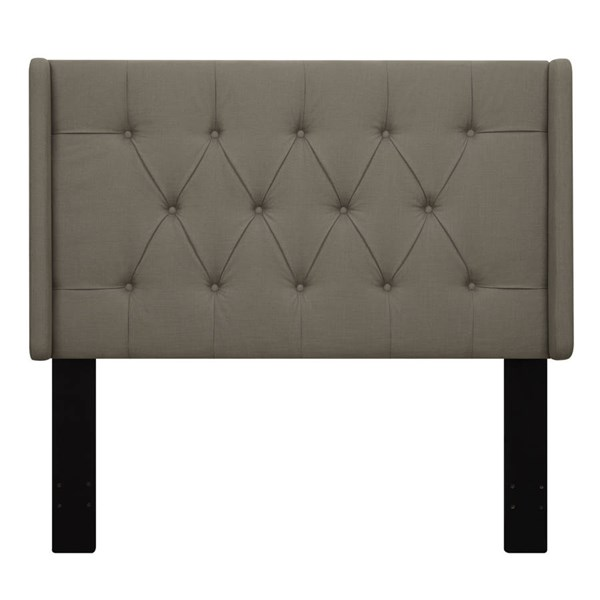 Contemporary Brown Fabric Hardwood Shelter Upholstered King Headboard RH-DS-D017-270-373