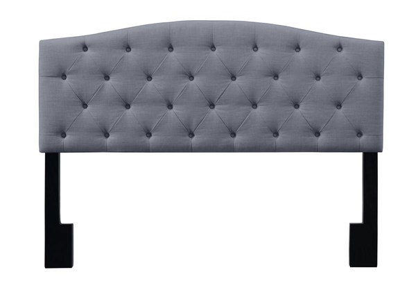 Home Meridian Grey Camel Back Tufted King Headboard RH-DS-D019-270-419