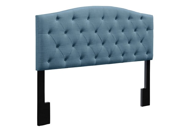 Traditional Blue Fabric Hardwoods Camelback King Headboard RH-DS-D019-270-436