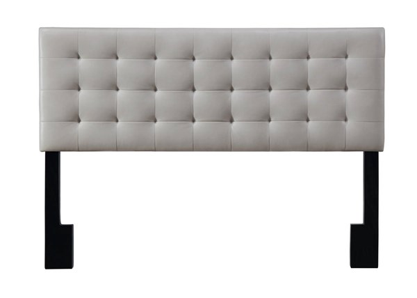 Modern Taupe Faux Leather Hardwoods King Headboard RH-DS-D020-270-439