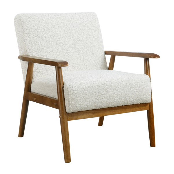 Home Meridian White Mid Century Wood Frame Chair RH-DS-D030003-2