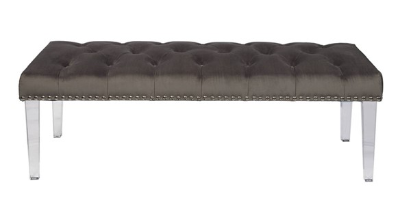 Home Meridian Grey Luxor Bed Bench RH-DS-D107005-579