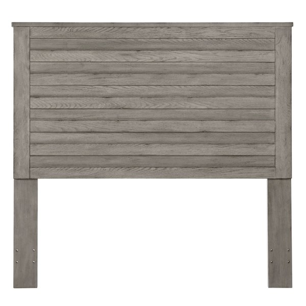 Weathered Grey Oak Hardwood Solids Horizontal Slat Queen Headboard RH-DS-D112002