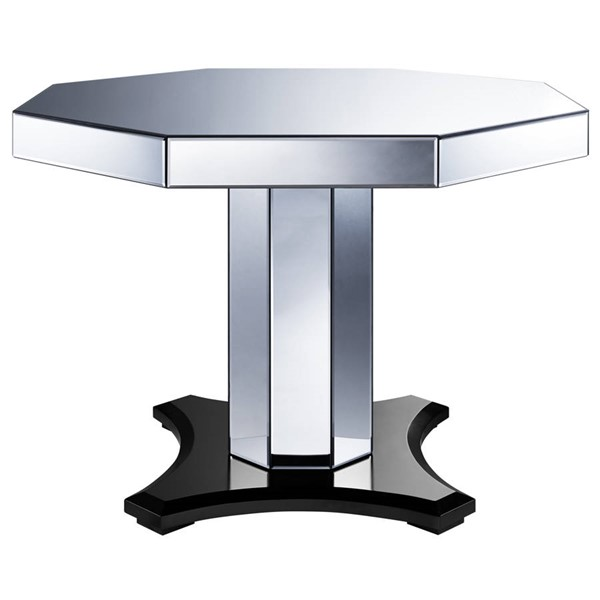 Home Meridian Silver Smoked Mirrored Octagon Dining Table RH-DS-D114008-K1