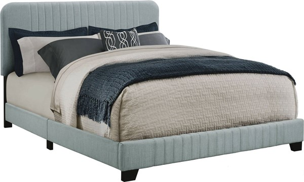 Home Meridian Blue Fabric Mid Century Twin Platform Bed RH-DS-D121-288-526