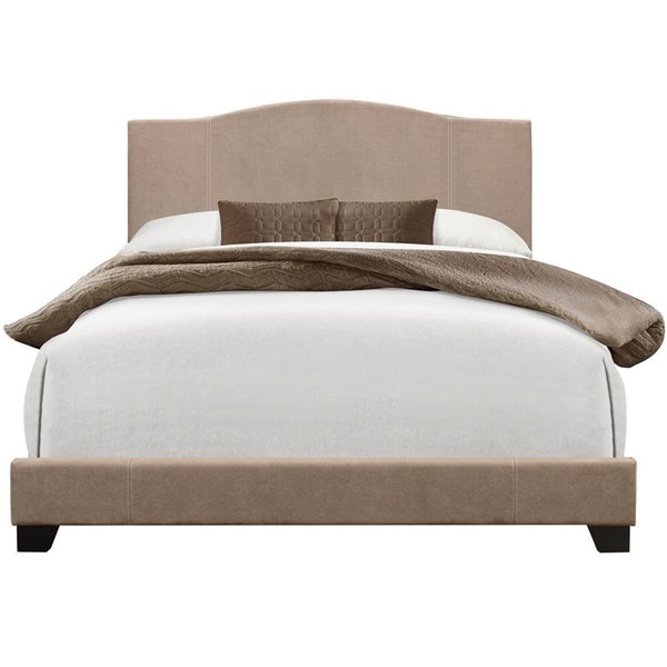 Modern Denim Sand Beige Fabric Grey Hardwoods Queen Upholstered Bed RH-DS-D122-290-229