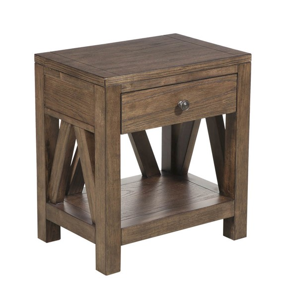 Pulaski Furniture Brown Farmhouse Style Side Table RH-DS-D153-005