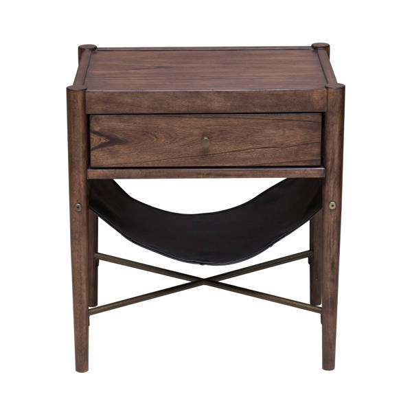 Home Meridian Brown Storage End Table RH-DS-D153-200