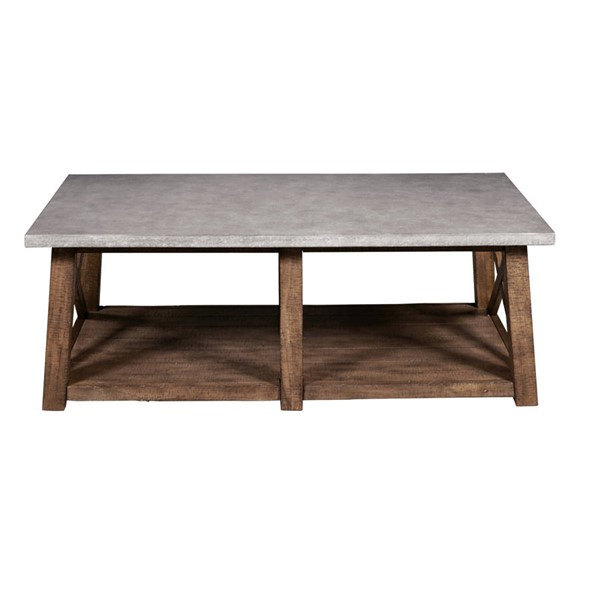 Pulaski Furniture Distressed Brown Cocktail Table RH-DS-D153-210