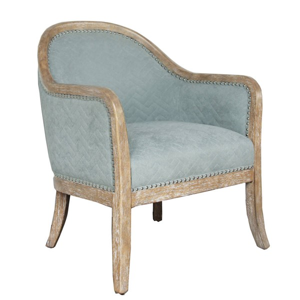Home Meridian Blue Fabric Wood Frame Accent Chair RH-DS-D153-701-699