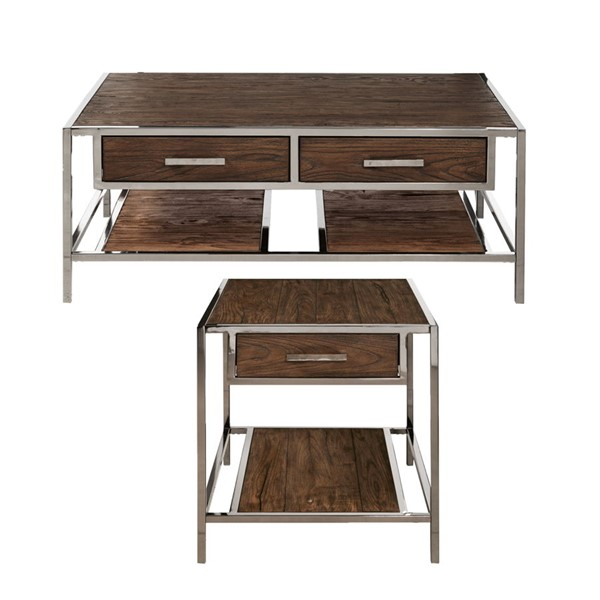 Home Meridian Modern Cocktail And End Table Set RH-DS-D153-K1
