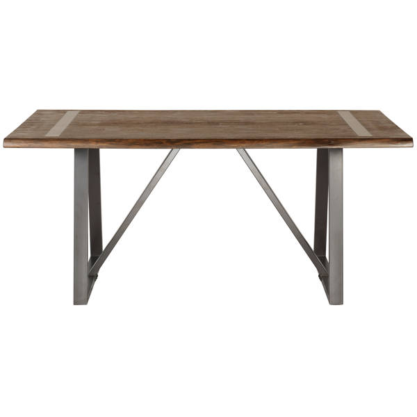 Home Meridian Brown Industrial Live Edge Dining Table RH-DS-D183-130