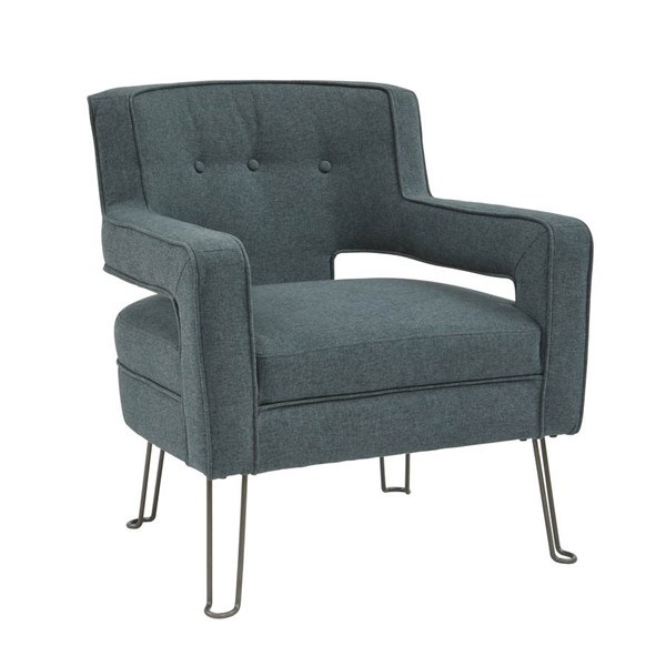 Home Meridian Urban Eclectic Blue Accent Chair RH-DS-D198-712