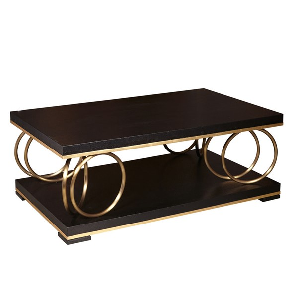 Home Meridian Gold Metal Rings Cocktail Table RH-DS-D199-202