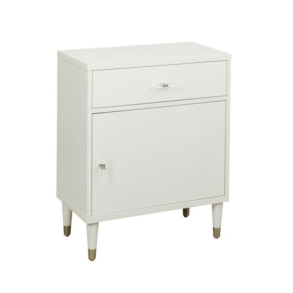 Pulaski Furniture White Chairside Chest RH-DS-D204-052