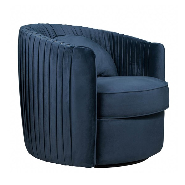Home Meridian Small Space Blue Velvet Swivel Accent Chair RH-DS-D204-709-1